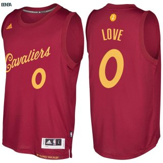Maillot NBA Cleveland Cavaliers NO.0 Kevin Love Rouge Hardwood Classics 2016-17 Outlet