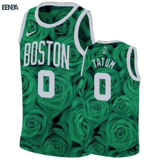 Maillot NBA Nike Boston Celtics NO.0 Jayson Tatum Vert Outlet