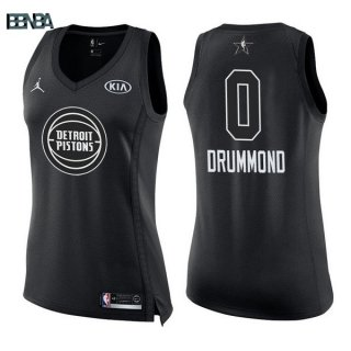 Maillot NBA Mujer 2018 All Star NO.0 Andre Drummond Noir Outlet