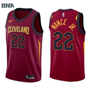 Maillot NBA Cleveland Cavaliers NO.22 Larry Nance Jr Rouge Icon 2017-18 Outlet