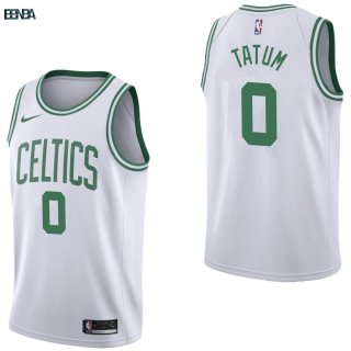 Maillot NBA Boston Celtics NO.0 Jayson Tatum Blanc Association 2017-18 Outlet