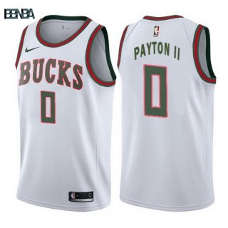 Maillot NBA Milwaukee Bucks NO.0 Gary Payton II Retro Blanc 2017-18 Outlet