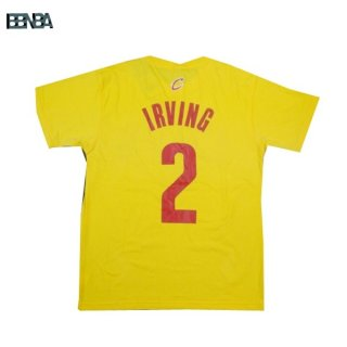 T-Shirt NBA Cleveland Cavaliers NO.2 Irving Jaune Outlet