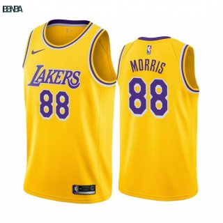 Maillot NBA Nike Los Angeles Lakers NO.88 Markieff Morris Jaune Icon 2019-20 Outlet