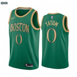 Maillot NBA Nike Boston Celtics NO.0 Jayson Tatum Nike Vert Ville 2019-20 Outlet