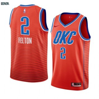 Maillot NBA Nike Oklahoma City Thunder NO.2 Raymond Felton Orange Statement 2019-20 Outlet