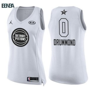 Maillot NBA Mujer 2018 All Star NO.0 Andre Drummond Blanc Outlet