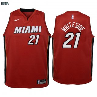 Maillot NBA Enfant Miami Heat NO.21 Hassan Whiteside Rouge Statement 2018 Outlet