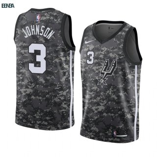Maillot NBA Nike San Antonio Spurs NO.3 Keldon Johnson Camouflage Ville 2019-20 Outlet