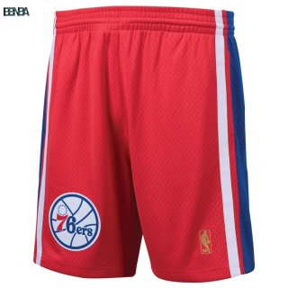 Pantalon Basket Philadelphia 76ers Rouge Hardwood Classics Outlet