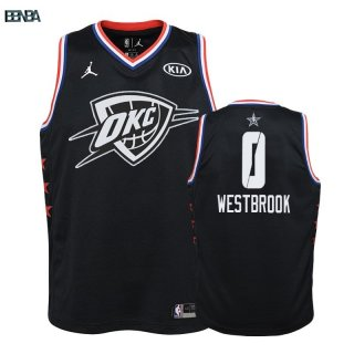 Maillot NBA Enfant 2019 All Star NO.0 Russell Westbrook Noir Outlet