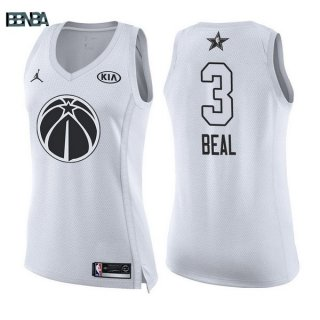 Maillot NBA Mujer 2018 All Star NO.3 Bradley Beal Blanc Outlet