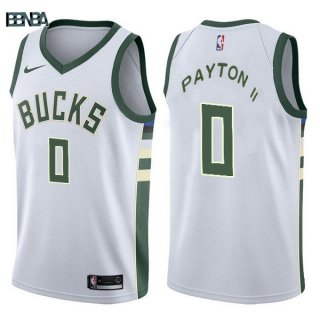 Maillot NBA Milwaukee Bucks NO.0 Gary Payton II Blanc Association 2017-18 Outlet