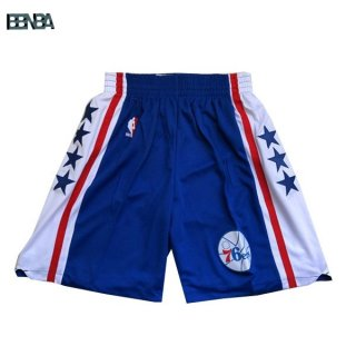 Pantalon NBA Philadelphia 76ers Bleu Blanc Outlet