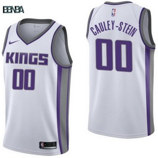 Maillot NBA Sacramento Kings NO.0 Willie Cauley Stein Blanc Association 2017-18 Outlet