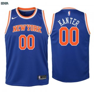 Maillot NBA Enfant New York Knicks NO.0 Enes Kanter Bleu Icon 2018 Outlet