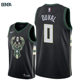 Maillot NBA Milwaukee Bucks NO.0 Trevon Duval Noir Statement 2018 Outlet