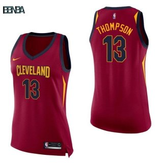 Maillot NBA Mujer Cleveland Cavaliers NO.13 Tristan Thompson Rouge Icon 2017-18 Outlet