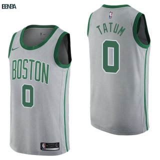 Maillot NBA Boston Celtics NO.0 Jayson Tatum Nike Gris Ville 2017-18 Outlet