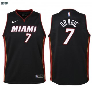 Maillot NBA Enfant Miami Heat NO.7 Goran Dragic Noir Icon 2018 Outlet