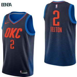 Maillot NBA Oklahoma City Thunder NO.2 Raymond Felton Marine Statement 2017-18 Outlet