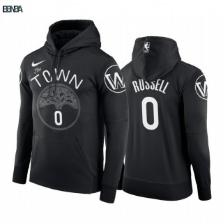 Hoodies NBA Golden State Warriors NO.0 D'Angelo Russell Noir Outlet