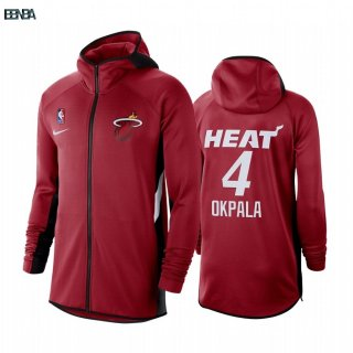 Hoodies NBA Miami Heat NO.4 KZ Okpala Rouge Outlet