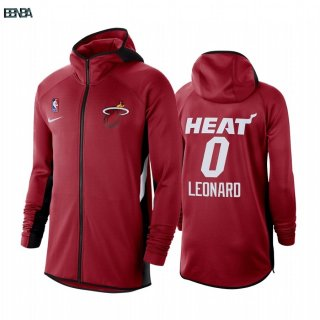 Hoodies NBA Miami Heat NO.0 Meryers Leonard Rouge Outlet