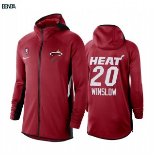 Hoodies NBA Miami Heat NO.20 Justise Winslow Rouge Outlet