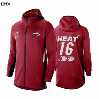 Hoodies NBA Miami Heat NO.16 James Johnson Rouge Outlet