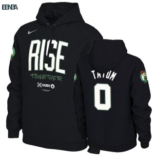 Hoodies NBA Boston Celtics NO.0 Jayson Tatum Noir Outlet