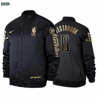 Survetement NBA Houston Rockets NO.0 Russell Westbrook Noir Outlet