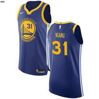 Maillot NBA Golden State Warriors NO.31 Georges Niang Bleu Icon 2017-18 Outlet