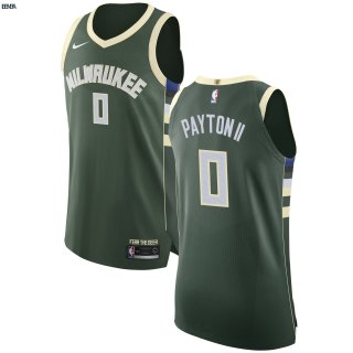 Maillot NBA Milwaukee Bucks NO.0 Gary Payton II Vert Icon 2017-18 Outlet