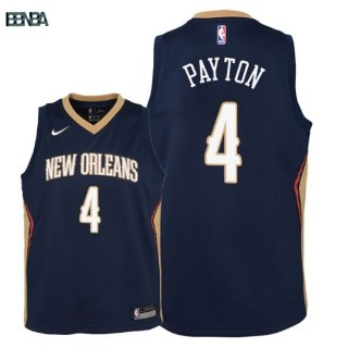 Maillot NBA Enfant New Orleans Pelicans NO.4 Elfrid Payton Marine Icon 2018 Outlet