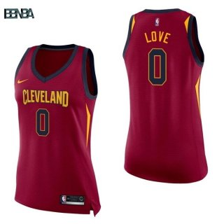 Maillot NBA Mujer Cleveland Cavaliers NO.0 Kevin Love Rouge Icon 2017-18 Outlet