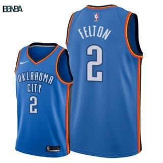 Maillot NBA Oklahoma City Thunder NO.2 Raymond Felton Bleu Icon 2018 Outlet