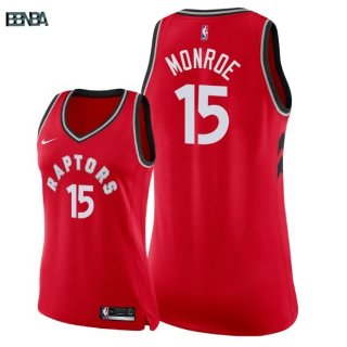 Maillot NBA Mujer Toronto Raptors NO.15 Greg Monroe Rouge Icon 2018 Outlet