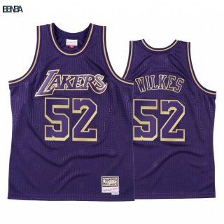 Maillot NBA CNY Throwback Los Angeles Lakers NO.52 Jamaal Wilkes Púrpura 2020 Outlet
