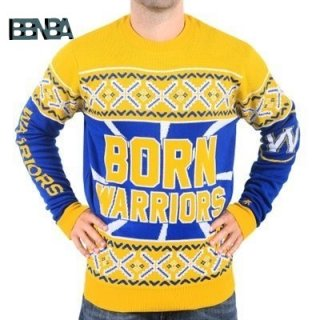 NBA Unisex Ugly Sweater Golden State Warriors Jaune Outlet