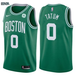 Maillot NBA Boston Celtics NO.0 Jayson Tatum Vert 2017-18 Outlet