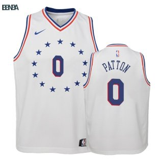 Maillot NBA Enfant Earned Edition Philadelphia 76ers NO.0 Justin Patton Blanc 2018-19 Outlet