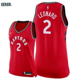 Maillot NBA Mujer Toronto Raptors NO.2 Kawhi Leonard Rouge Icon 2018 Outlet