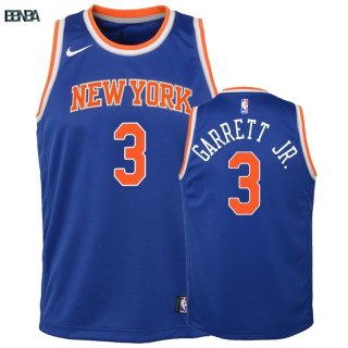 Maillot NBA Enfant New York Knicks NO.3 Billy Garrett Jr. Bleu Icon 2018-19 Outlet