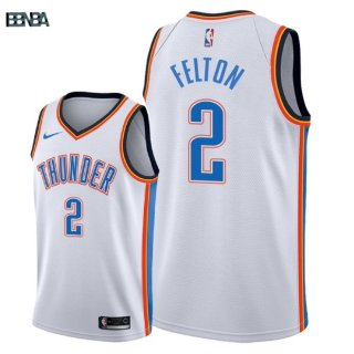 Maillot NBA Oklahoma City Thunder NO.2 Raymond Felton Blanc Association 2018 Outlet