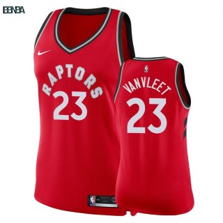 Maillot NBA Mujer Toronto Raptors NO.23 Fred VanVleet Rouge Icon 2018 Outlet