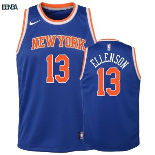 Maillot NBA Enfant New York Knicks NO.13 Henry Ellenson Bleu Icon Outlet