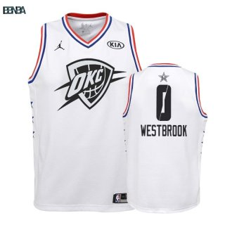 Maillot NBA Enfant 2019 All Star NO.0 Russell Westbrook Blanc Outlet