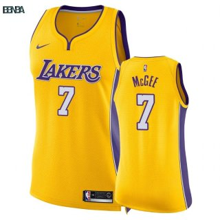 Maillot NBA Mujer Los Angeles Lakers NO.7 JaVale McGee Jaune Icon 2018 Outlet