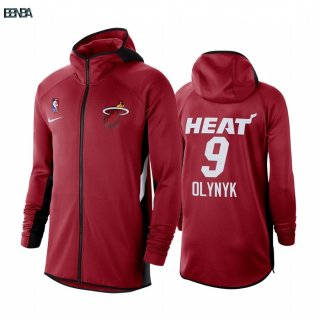 Hoodies NBA Miami Heat NO.9 Kelly Olynyk Rouge Outlet
